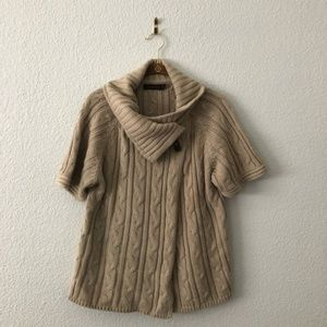 The Limited Beige Cozy Sweater Jacket Cable Knit